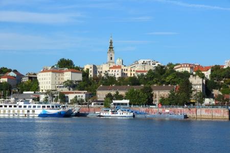 Belgrad, Serbien - Hauptstadt Ansicht mit Fluss Sava.
