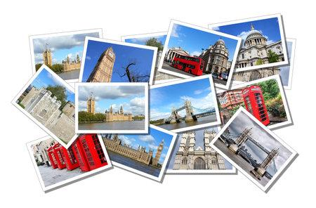 연합 왕국: 영국, 미국, 영국 런던에서 엽서 콜라주. 모든 사진은 별도로 나와 사용할 수에 의해 촬영.