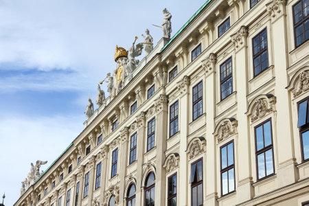 hofburg: Vienna, Austria - Hofburg Palace courtyard.  Editorial