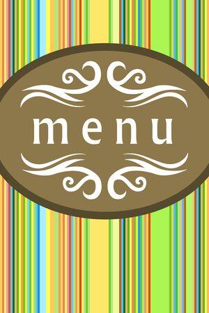 establishment: Restaurant menu front cover template. Food establishment design.
