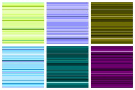 Striped background illustration. Set of colorful stripes seamless patterns.
