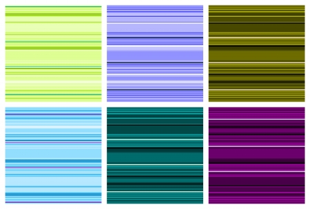 repeatable: Striped background illustration. Set of colorful stripes seamless patterns.
