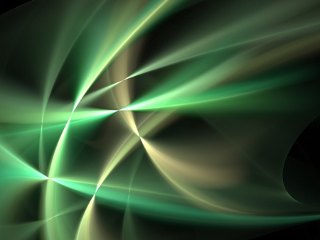 Graphics texture. Computer rendered background. 3D fractal. Smooth green waves. photo