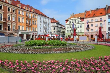Polen - Blick auf die Stadt in Kalisz. Großpolen Provinz (Wielkopolska). Hauptplatz (Rynek).