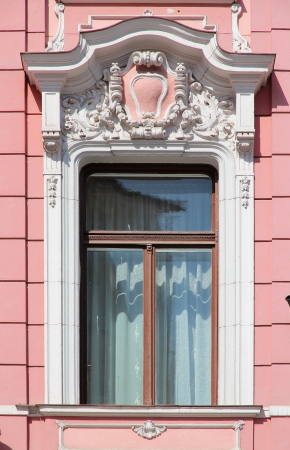 architectural feature: Brasov, town in Transylvania, Romania. Architectural feature - decorative window.
