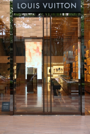 lvmh: TOKYO - MAY 9: Louis Vuitton store on May 9, 2012 in Omotesando, Tokyo. Louis Vouitton was most powerful luxury brand in world with $19.4bn USD value (Forbes 2008).