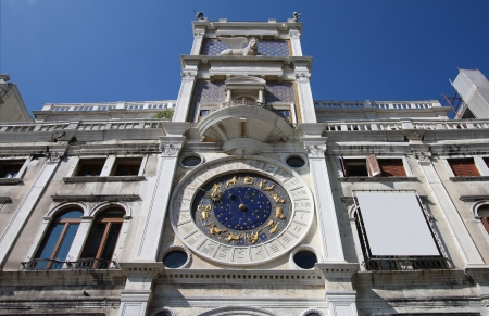 Astronomical clock at San Marco Square in Venice, Italy photo