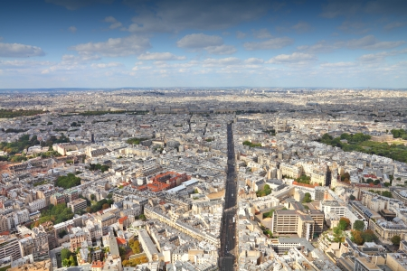 Paris, France - aerial city view with Rue de Rennes street Stock Photo - 17070578