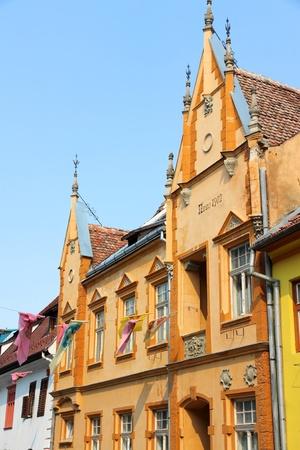 Sighisoara - town in the region of Transylvania, Romania 에디토리얼