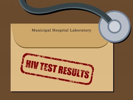 test results: File di cartelle mediche dei pazienti - i risultati del test HIV in una busta. Sanit� concetto.