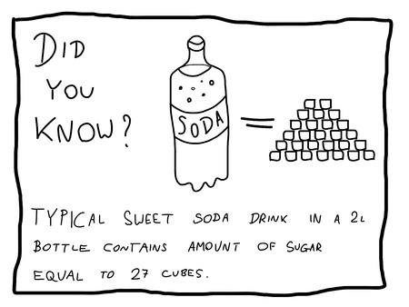 know: Fun fact trivia - useful doodle illustration usable as a webcomic or for funny section of a newspaper. Illustration