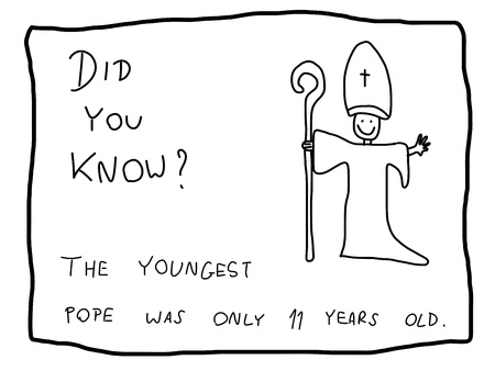 Fun fact trivia - useful doodle illustration usable as a webcomic or for funny section of a newspaper. Vector