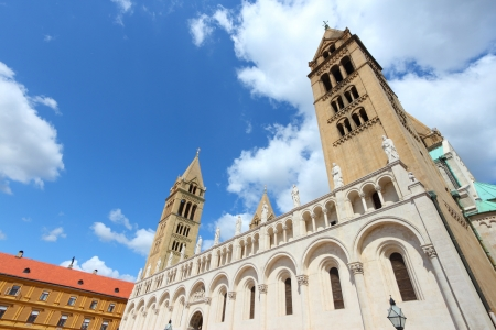 pecs: Pecs, Hungary. City in Baranya county. Romanesque Cathedral.