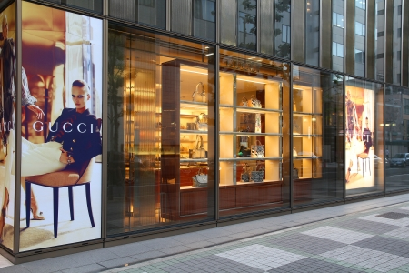 NAGOYA, JAPAN - MAY 3: Gucci store on May 3, 2012 in Nagoya, Japan. The fashion company founded in 1921 is among most recognized luxury brands in the world. Stock Photo - 17522834