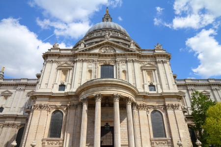 London, United Kingdom - famous St. Paul's Cathedral church Stock Photo - 17687309