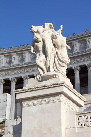 vittorio emanuele: Rome, Italy. Famous Vittoriano - monument to Vittorio Emanuele II. Stock Photo