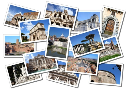 Postcard collage from Rome, Italy. All photos taken by me and available also separately.