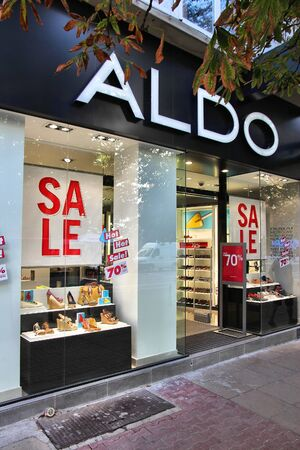 SOFIA, BULGARIA - AUGUST 17: Aldo footwear store on August 17, 2012 in Sofia, Bulgaria. Aldo has 1,600 stores in 60 countries. It exists since 1966. Stock Photo - 17863805