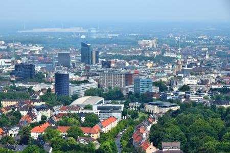 Dortmund - Stadt im Ruhrgebiet (Ruhr Metropolregion) in Deutschland. Aerial view. Lizenzfreie Bilder