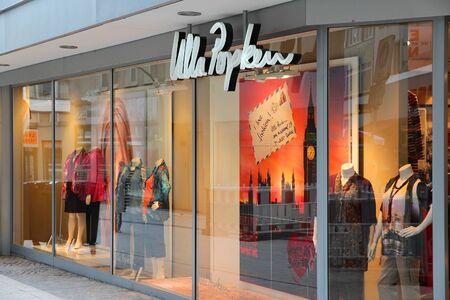 DORTMUND, GERMANY - JULY 16: Ulla Popken specialty plus size clothes store on July 16, 2012 in Dortmund, Germany. The company exists since 1888 and has 300 stores around Europe. Stock Photo - 17679064