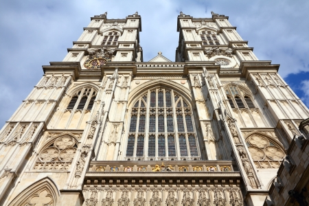London, United Kingdom - famous Westminster Abbey church. UNESCO World Heritage Site.
