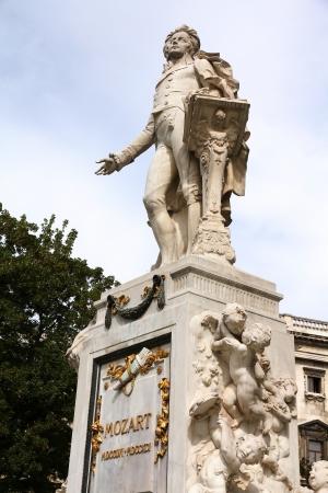 mozart: Vienna, Austria - statue of Mozart (Austrian composer) in Burggarten