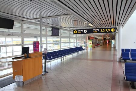 fueled: MALMO, SWEDEN - MARCH 12: Airport interior on March 12, 2011 in Malmo. With 1.6 million passengers for year 2010 it is the 5th busiest airport in Sweden. Its rapid growth is fueled by low cost airline Wizzair. Editorial