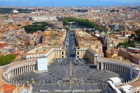 Rome, Italy. Famous Saint Peter's Square in Vatican and aerial view of the city Reklamní fotografie