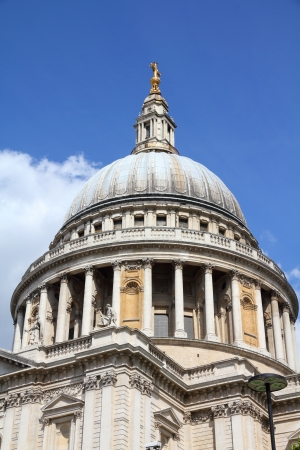 saint pauls cathedral: London, United Kingdom - famous St. Pauls Cathedral church Stock Photo