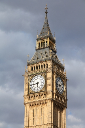 London, United Kingdom - Palace of Westminster (Houses of Parliament) Big Ben clock tower. photo