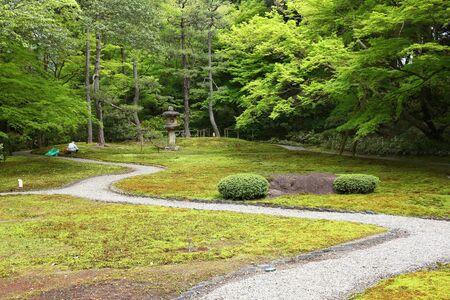 nara park: Nara, Japan (Kansai region) - Yoshikien Garden - moss garden area. Stock Photo
