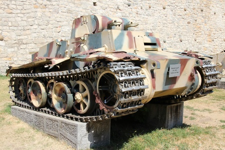 f 15: BELGRADE, SERBIA - AUGUST 15: German tank PzKpfw I Aust F (Panzer I) on display on August 15, 2012 in outdoor Belgrade Military Museum, Serbia. The museum exists since 1878.