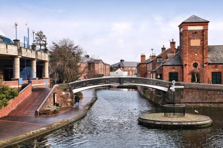 midlands: Birmingham water canal network. West Midlands, England. Stock Photo