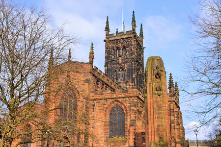 peters: Wolverhampton in West Midlands, England. St. Peters Collegiate Church. Stock Photo