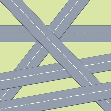 multi level: Transportation infrastructure background - roads illustration. Multi level intersection.