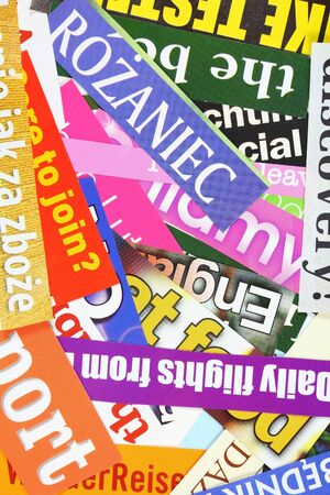 Press headlines - newspaper and magazine cuttings. Media noise. Stock Photo - 18299310