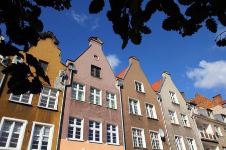 nas: Poland - Gdansk city (also know nas Danzig) in Pomerania region. Typical apartment buildings.
