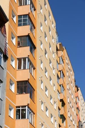 average: Apartment building in Sibiu, Romania. Average condominium. Stock Photo