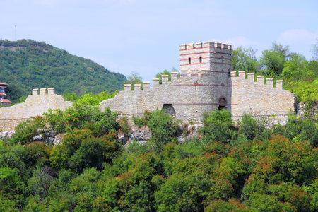 veliko: Veliko Tarnovo in Bulgaria  Old Tsarevets fortress walls  Editorial