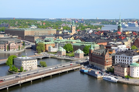 Stockholm, Sweden. View of famous Gamla Stan (the Old Town) on the right, Stadsholmen island. photo