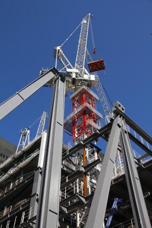 highriser: Generic skyscraper construction in London, England. Office building development.
