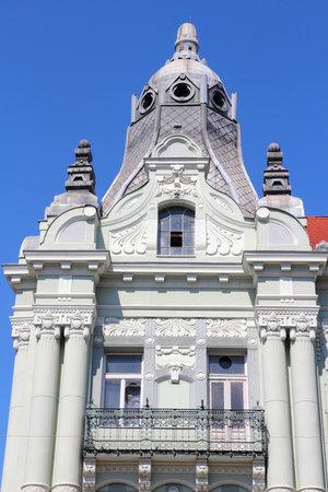szechenyi: Szeged, Hungr�a - edificio de estilo Art Nouveau en la famosa plaza Szechenyi