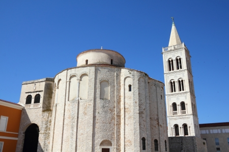 Далмация: Croatia - Zadar in Dalmatia. St. Donatus church. Фото со стока