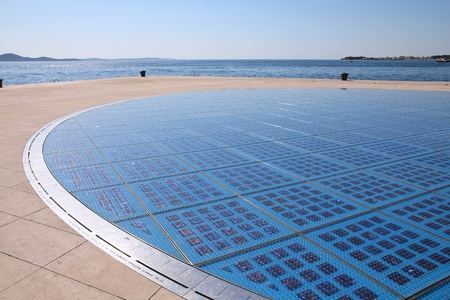 Solar panels array in Croatia - Zadar in Dalmatia.