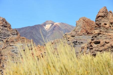 garcia: Tenerife, Canary Islands, Spain - volcano Teide National Park. Roques de Garcia and Mount Teide.
