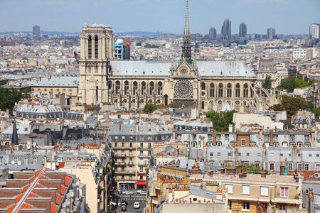 Paris, France - aerial city view with Notre Dame cathedral. Stock Photo - 18867919