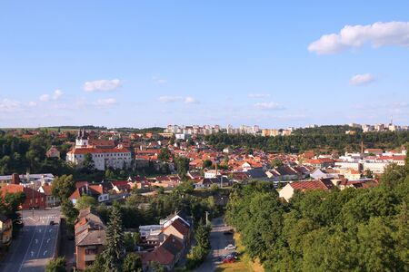 trebic: Czech Republic - Trebic, beautiful town in Vysocina region of Moravia. Stock Photo
