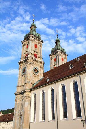 st  gallen: St. Gallen abad�a en Suiza Foto de archivo