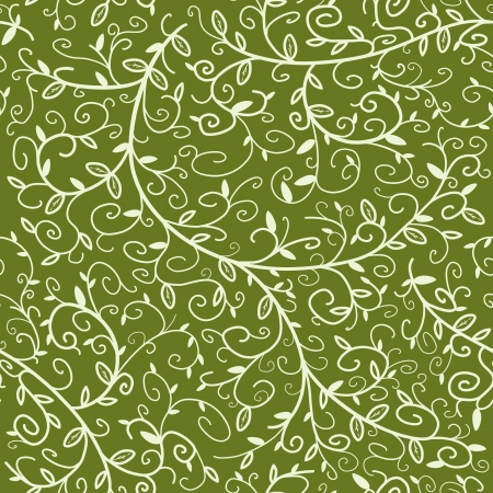 Seamless floral ornament texture. Background ornate repeating plant pattern. Vector