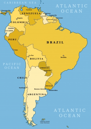 Maps Of The World Political And Administrative Maps Of Continents - Political map of world with capitals